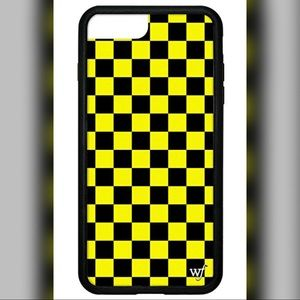 Wildflower Yellow checkered iPhone 7/8 Plus Case